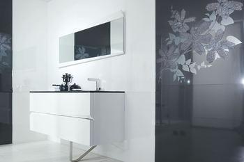 Flower Blanco декор стена (из 3-х плиток 31,6х90)-17369
