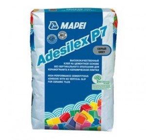 Mapei ADESILEX P7 - серый клей для плитки и керамогранита 25 кг - главное фото