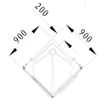 Душевой поддон Plato de TOLEDO C90  в форме квадрата  -17474