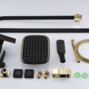Душевая система A2406-6 (черн./золото) Faop -11015