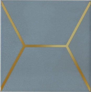 Декор Витраж голубой-12853