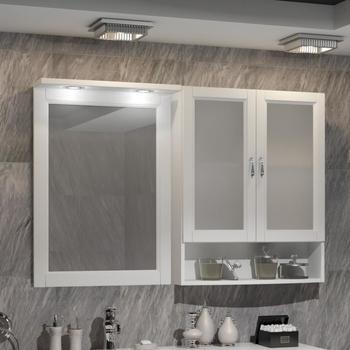 Мебель для ванной Клио под стиральную машину Белый матовый-14719