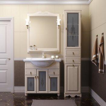 Мебель для ванной Тибет 85 Слоновая кость Opadiris-10890