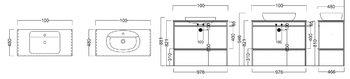 Метал.структура PLAZA Next напольная 100 см, цв.черный матовый-14195