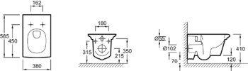 E1303-00 унитаз подвесной STILLNESS сидение с микролифтом /58,5х38/ (белый) JD  -12959