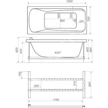 Акриловая ванна Triton Кэт 150-10378