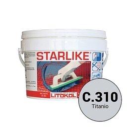 Эпоксидная затирка Starlike Defender C.310 Titanio антибактер. 1 кг