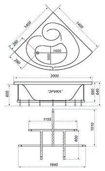 Акриловая ванна Triton Эрика-10436