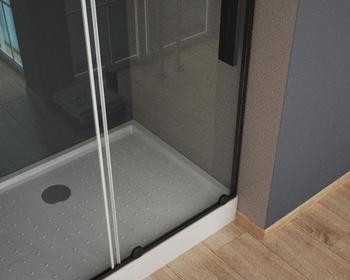 TOLEDO RC120.10 NEGRO Душевое ограждение прямоугольной формы с одной раздвижной дверью-16938