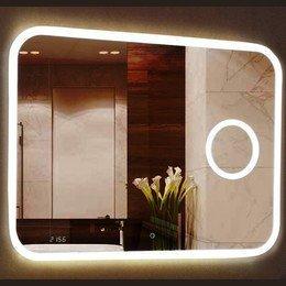 Зеркало Bliss Led 1000*700  с увеличительным зеркалом,часами и подогревом Calypso