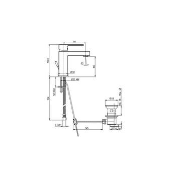 Смеситель 84CR211RKM Dax-R  для раковины-17499