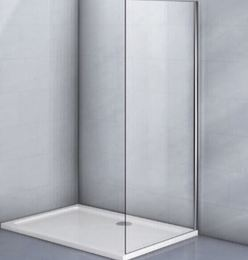 Фиксированная боковая панель без верхнего и нижнего профиля KP03-90-01-19C1 стекло прозрачное 6 мм