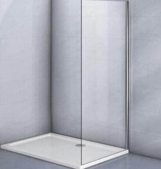 Фиксированная боковая панель без верхнего и нижнего профиля KP03-90-01-19C1 стекло прозрачное 6 мм - главное фото