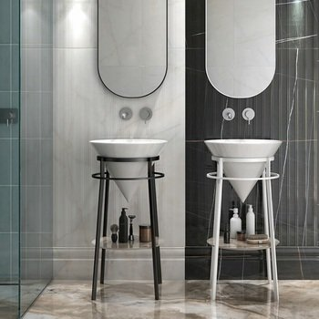 Зеркало CONO овальное 42 черный матовый-14919