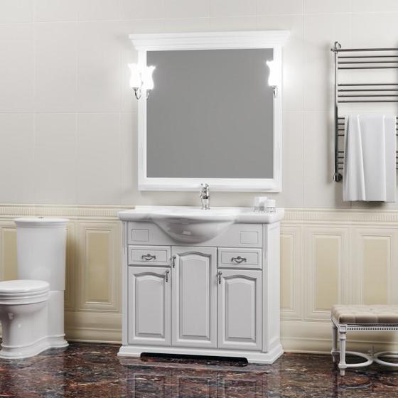Мебель для ванной Риспекто 95 Белый матовый Opadiris - главное фото