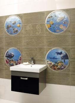 Mural Poseidon II панно (из 8-ми плиток 25*50)-17330