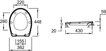 E70021-00 крышка/сиденье NEW PATIO микролифт (бел) JD-12937