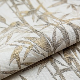 Обои Бамбук бежевый светлый золото мотив