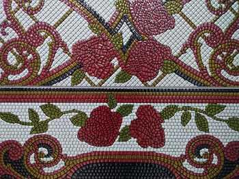 Columna Baikal rojo декор (из 4-x плиток 25х60)-17138