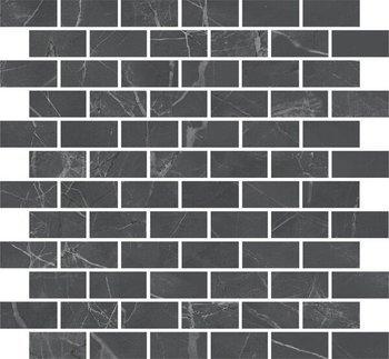 Декор Буонарроти серый темный мозаичный-12220