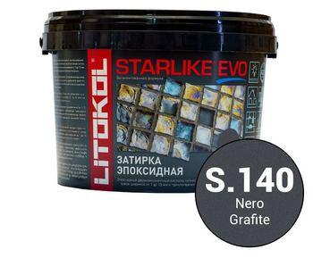 Эпоксидная затирка STARLIKE EVO  nero grafite (S.140) 2,5 кг-19324