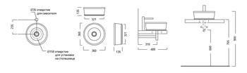 Раковина CIRCO 36 накладная -18414