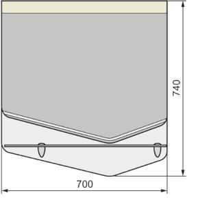 Зеркало CRYSTAL CUB 70, белый-15033