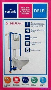 Инсталляция DELFI (наст. с сид. т/п lift+инст. VECTOR с кн. MOVI, хром мат) белый-10751