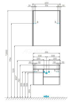 1A235301BV010 тумба под раковину БЕВЕРЛИ 65 /35,7х61,6х45,5/ (белый глянец)-12371