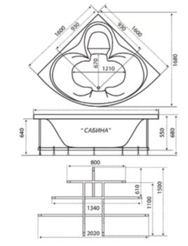 Акриловая ванна Triton Сабина-10454