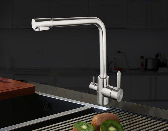 Смеситель для кухни G4399-1 ( фильтр д/питьевой воды нерж/сталь)   - главное фото