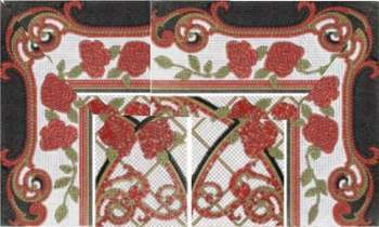 Mural Baikal rojo панно (из 8-ми плиток 25х60)-17141