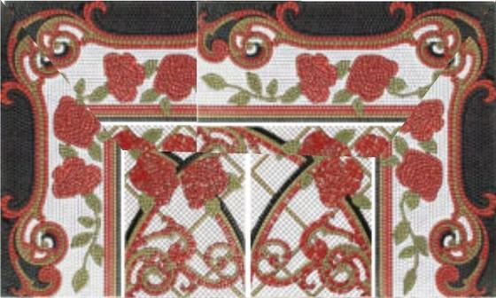 Mural Baikal rojo панно (из 8-ми плиток 25х60) - главное фото
