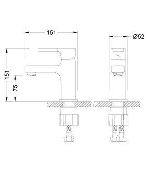 Серия AURA. Смеситель для умывальника монолитный – LM0606C-12521