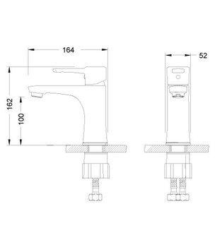 Серия EVITTA. Смеситель для умывальника монолитный – LM0506C-12513