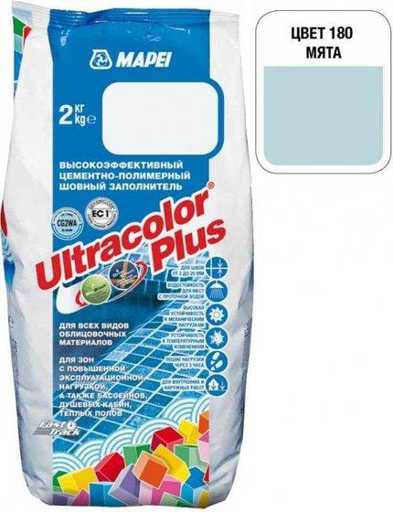 Затирка Ultracolor Plus №180 (мята) 2 кг. - главное фото