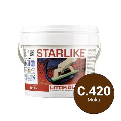 Эпоксидная затирка Starlike Defender C.420 Arancio антибактер. 1 кг - главное фото