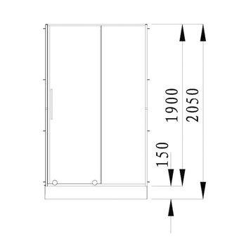 ДВЕРЬ В НИШУ ALVARO BANOS TOLEDO D120.10 CROMO-11924