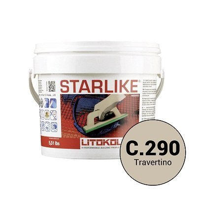 Эпоксидная затирка Starlike C.290 Travertine 5 кг - главное фото