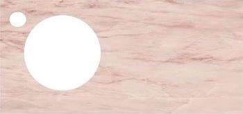 Спец. изделие декоративное 97х48.5 CONO Onice розовый с отверстием под смеситель керамическое-18569