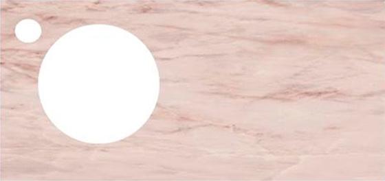 Спец. изделие декоративное 97х48.5 CONO Onice розовый с отверстием под смеситель керамическое - главное фото