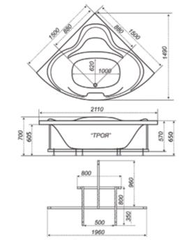 Акриловая ванна Triton Троя-10445