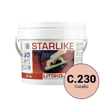 Эпоксидная затирка Starlike C.230 Corallo 2,5 кг - главное фото