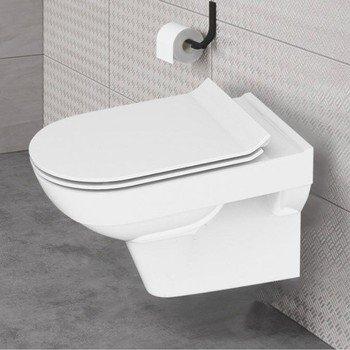 Унитаз подвесной Carina New Clean On с кр.дюропл. slim lift., белый-11430