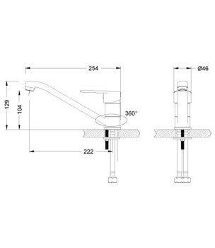 Серия POINT. Смеситель для кухни с поворотным изливом – LM0304C-12489