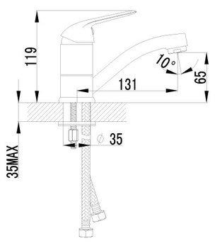 Серия plus ADVANCE. Смеситель для умывальника с поворотным изливом – LM1207C-12579