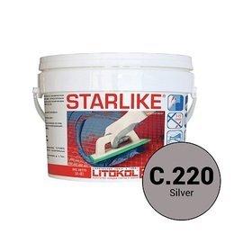 Эпоксидная затирка Starlike Defender C.220 Silver антибактер. 1 кг