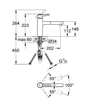 Смеситель для кухни GROHE Concetto с выдвижным изливом, хром (31129001)-12912