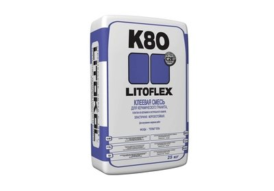 LITOFLEX K80 Клей для керамического гранита, натурального камня, для «тёплых» полов и облицовки фасадов зданий 25 кг.