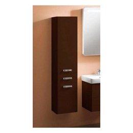 1A135203AM430 шкаф-колонна АМЕРИНА подвесн.с б/к коричн.гл.